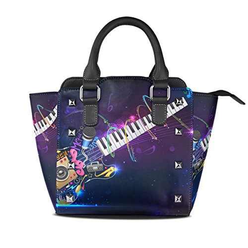 Top PU Handbags TIZORAX Handle Shoulder Bags Guitar Leather Women's Music TxawaKIEqY