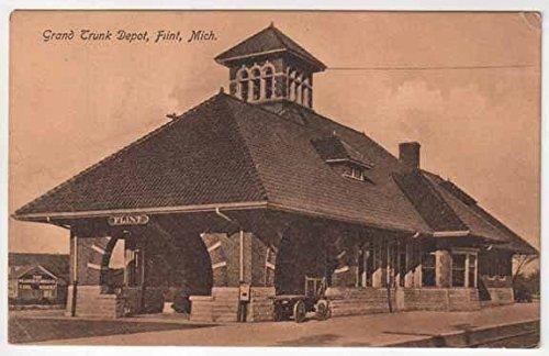 postcard-grand-trunk-railroad-depotflint-michigan