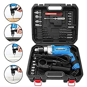AOTUO 710W Multi-function Power Drills Household Electric Impact Drill Tool Kit