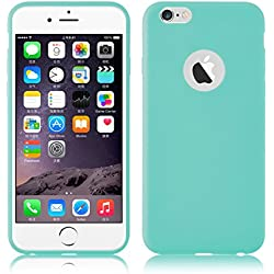 Cover iPhone 6, JAMMYLIZARD Custodia JELLY in Silicone per iPhone 6 e 6s, AZZURRO TIFFANY
