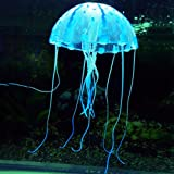 Jellyfish M Blue Aquarium Fish Tank Landscape Decoration Glow Simulation Animal Plants Ornament no.43