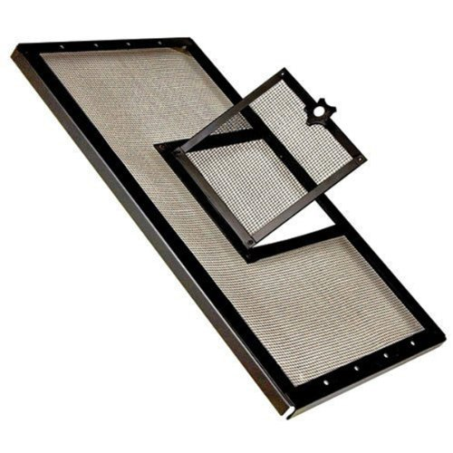 (Zilla Reptile Fresh Air Screen Cover with Hinged Door, 30-1/4 by 12-7/8-Inch, Black)