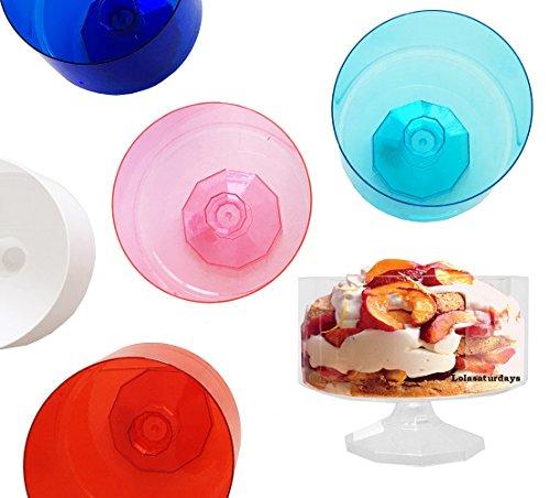 LolaSaturdays Plastic Trifle Bowls- set of 6 (6, Assorted) ()