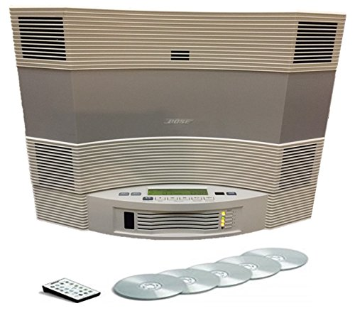 Bose Acoustic Wave Music System CD-3000 and Multi Disc 5-CD Changer, Platinum White