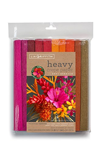 Lia Griffith Tropical Garden Heavy Crepe Paper, Assorted