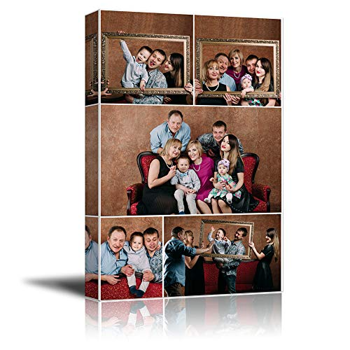 NWT Custom Canvas Prints with Your Photos Collage Idea, Personalized Canvas Pictures for Wall to Print Framed 14x11 inches