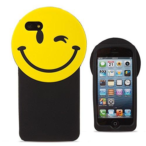 BACK CASE 3D LÄCHELN / SMILE für Iphone 5 Hülle Cover Case Schutzhülle Tasche Teddy
