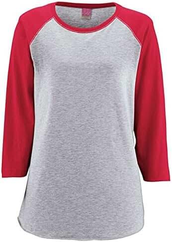 LAT Apparel Womens Vintage Fine Jersey Baseball T-Shirt