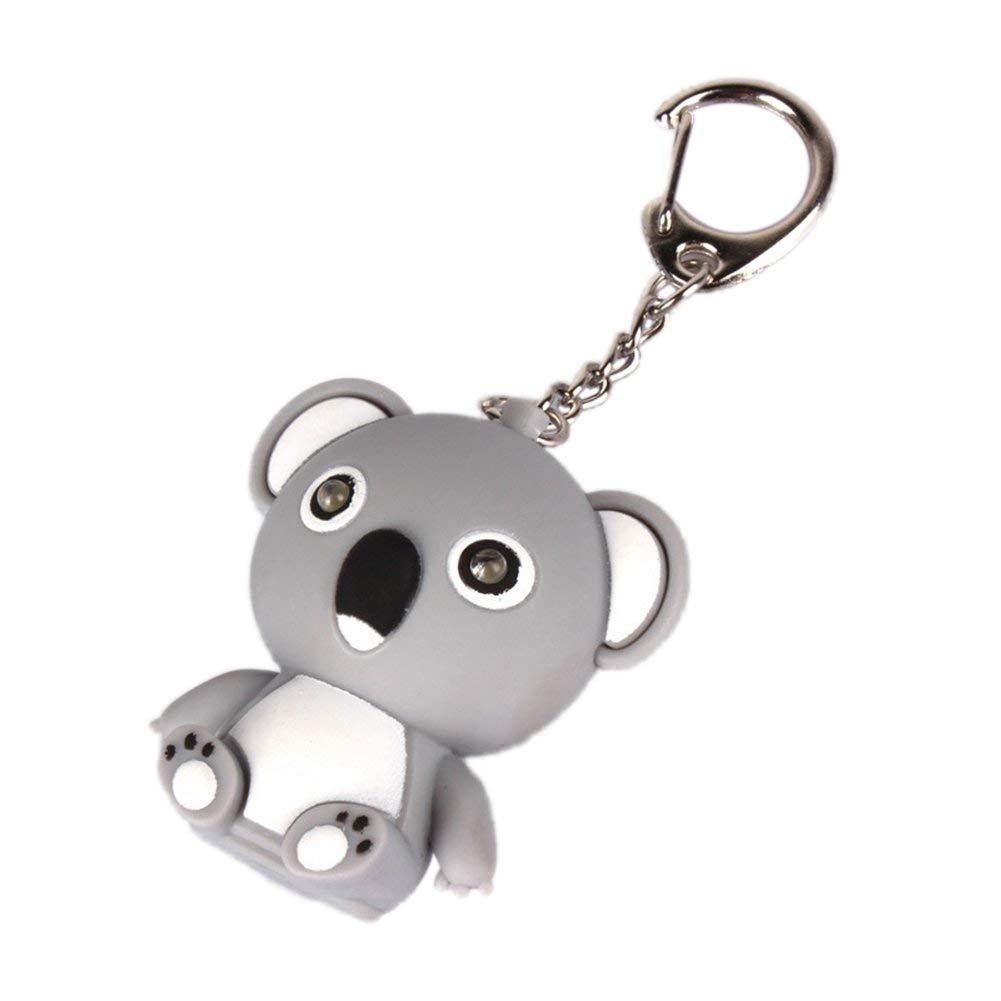 Vektenxi Cartoon Koala LED Sound Schl/üsselanh/änger Auto Schl/üsselanh/änger Handtasche H/ängen Dekor Geschenk Spielzeug Langlebig und N/ützlich