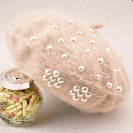 QWhing Cappello Sportivo Berretto da Donna Invernale Cappello da Donna  Bianco Marea Perla Berretto Bianco Donna (Coloreee rosa) cap Outdoor  (Coloreee Beige) ... 1a8953913ad6