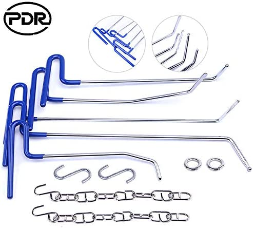 Fly5D PDR Rods Dent Puller Auto Body Hail Damage Dent Removal Kit Door Dings Repair Whole Tools Set for Car A
