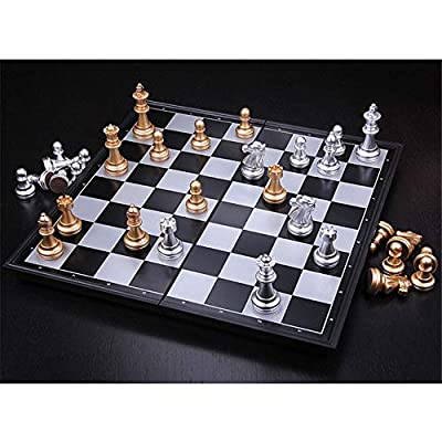 Folding Set Pieces Plastic with International Chess Board 25x25cm2 Toys Table Games