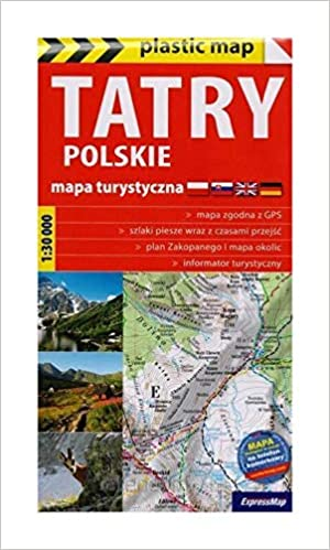 Plastic Map Tatry Polskie Foliowana Mapa Turystyczna 1 30 000