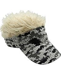 Lerben Funny Sun Visor Cap Wig Peaked Hat Adjustable Baseball Cap