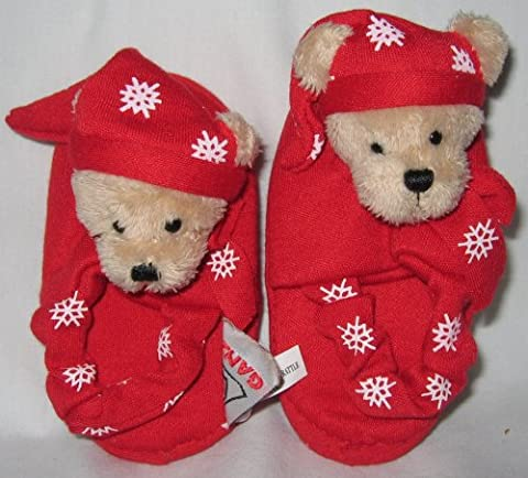 Ganz New Baby's New My 1st Christmas Footsie Rattles - Bear (Booties With Rattles)