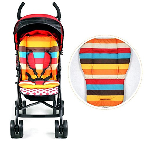 Zooper Stroller Accessories (Baby Stroller Thicken Cotton Mat Stripe Cushion Seat Pad BB Car Accessory)