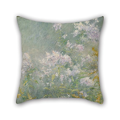 Pillow Shams Of Oil Painting John Henry Twachtman - Meadow Flowers (Golden Rod And Wild Aster) 16 X 16 Inches / 40 By 40 Cm,best Fit For Couch,club,birthday,kids Room,bench,valentine Twice - Club Aster