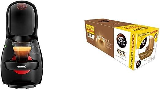 Pack DeLonghi Dolce Gusto Piccolo XS EDG210.B - Cafetera de cápsulas, 15 bares de presión, color negro + 3 packs de café Dolce Gusto Con Leche: Amazon.es: Hogar