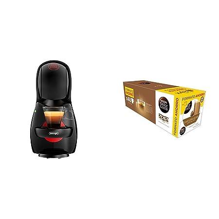 Pack DeLonghi Dolce Gusto Piccolo XS EDG210.B - Cafetera de cápsulas, 15 bares de presión, color negro + 3 packs de café Dolce Gusto Con Leche
