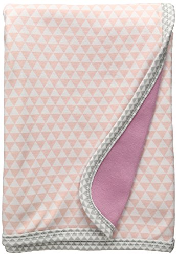 SkipHop Baby-Girls Newborn Petite Triangles Receiving Blanket, Pink, One Size