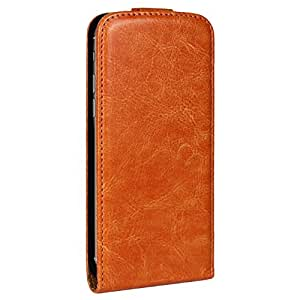 Brown Stylish Plain Flip Leather Case Cover For iPhone 6 6G