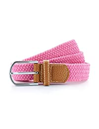 Asquith & Fox Mens Woven Braid Stretch Belt (One Size) (Pink Carnation)