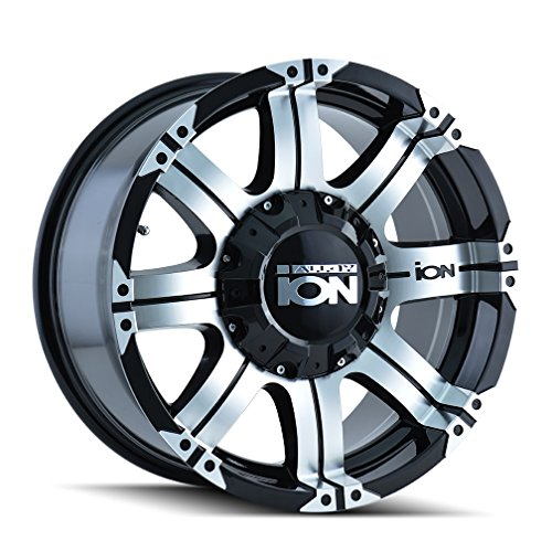 ION 187 Wheel with Black Face/Machined Lip (16 x 8. inches /6 x 108 mm, 10 mm Offset) ()