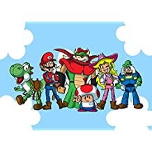 """Plumbing Story Group"" Funny Video Game & Children's Cartoon Movie Parody - Rectangle Refrigerator Magnet"
