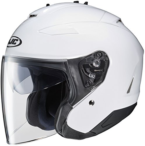 HJC Closeouts IS-33 II Solid White Open Face Helmet
