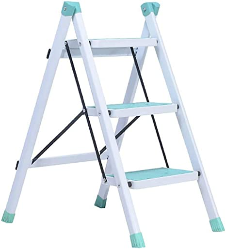 LYJBT Metal Plegable Escaleras de Seguridad de 3 escalones Ascendente Taburetes de Cocina portátiles Inicio Escalera de Tijera Herramientas de jardín (Color : A): Amazon.es: Hogar