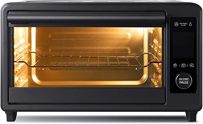 Toshiba TL2-AC25CZA(GR) Air Fryer Toaster Oven, 6-in-1 Digital Convection Oven for 9 Cooking Presets, 6-Slice Bread/12-Inch Pizza, 1750W, Charcoal Grey