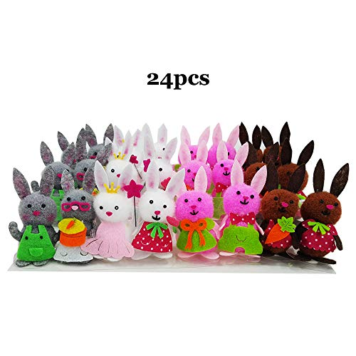 - 24pcs Easter Bunny Little Cute Bunny Spring Decoration Party Decoration