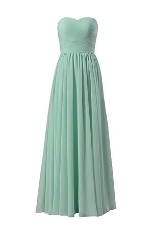 DaisyFormals Beach Wedding Party Dress Long Strapless Evening Dress(BM10824L)- Mint