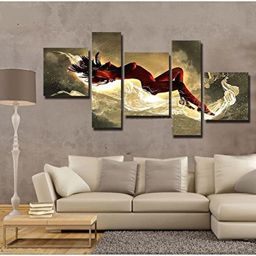 5pcs Abstract Modern Oil Painting Set Abstract Canvas Print Decoration for Home Living Room Bedroom Office Art Picture