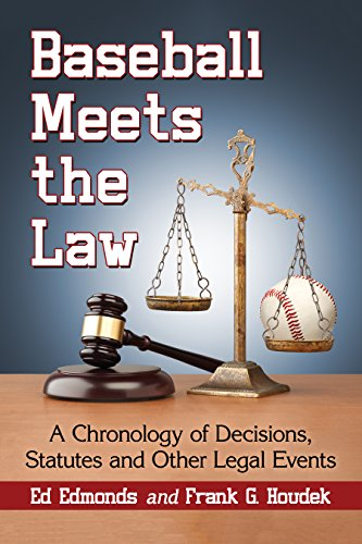 Baseball Meets the Law: A Chronology of Decisions, Statutes and Other Legal ()