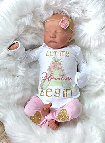 Let My Adventure Begin Baby Girl Coming Home Outfit