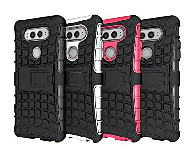 LG V20 Case, HLCT Rugged Shock Proof Dual-Layer PC and Inner TPU Case With Built-In Stand Kickstand for LG V20 (2016) by LG V20