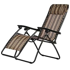 Mulsh cero Gravity jardín tumbona silla reclinable ajustable