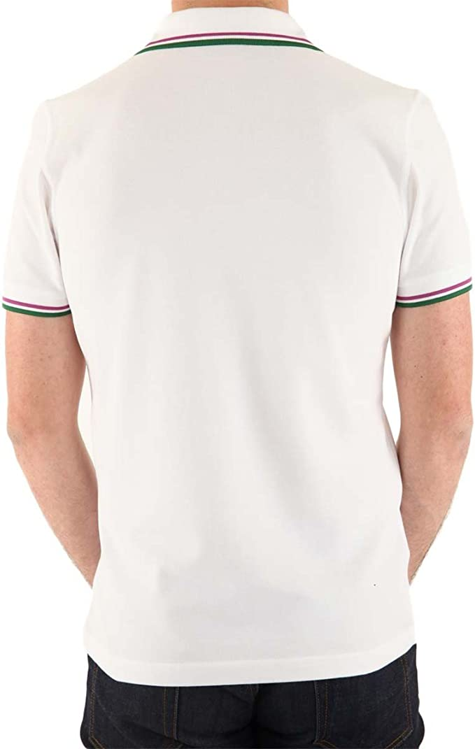 Polo Fred Perry Slim Fit M3600 663 Blanco Large: Amazon.es: Ropa y ...