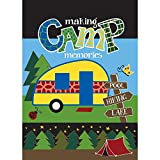 Making Camp Memories Trailer Forest Green 30 x 44 Rectangular Large House Flag For Sale