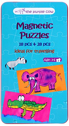 The Purple Cow Magnetic Game Box for Kids & Adults - Magnetic Puzzle Box -Improve Fine Motor Skills & Encourage Spatial Perception - Ideal for Travel