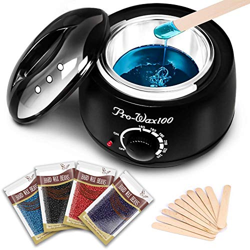 - Wax Warmer Hair Removal Kit, Vantap Bikini Home Waxing Kit Hair Depilatory Full Body Wax Kit with 4 Bags Hard Wax Beans & 10 Wax Applicator Spatulas