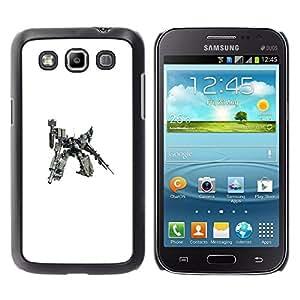 CASEX Cases / Samsung Galaxy Win I8550 I8552 Grand Quattro / Mech Warrior Huge Robot # / Delgado Negro Plástico caso cubierta Shell Armor Funda Case Cover Slim Armor Defender