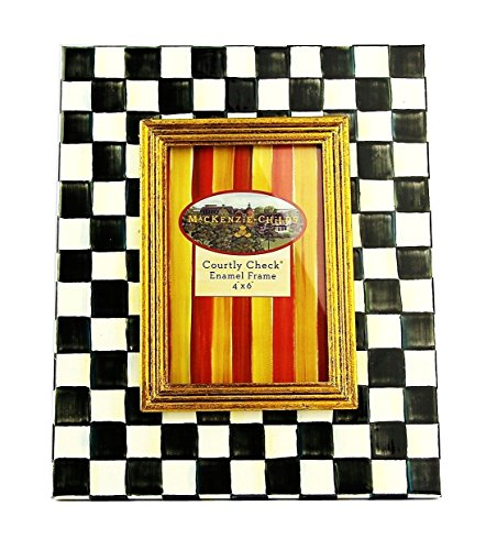 MACKENZIE CHILDS AMAZING COURTLY CHECK 4X6 ENAMEL FRAME BRAND NEW BOX by MacKenzie-Childs