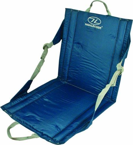Highlander  Sitzkissen mit Lehne Outdoor Seat, Blau, One Size, SM026-BL