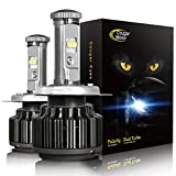 Cougar Motor H4 LED Headlight Bulbs, 9003 High/Low All-in-One Conversion Kit, 7200 Lumen (6000K Cool White) - Adjustable Beam Pattern