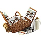 Cheap Picnic at Ascot Huntsman Basket for Four with Coffee Set/Blanket