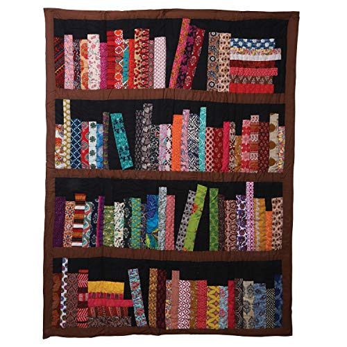ART & ARTIFACT Library Books Quilted Throw Blanket - 100% Cotton 50