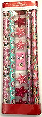 Disney Minnie Mouse Gift Wrap Wrapping Paper Set with Tags and Bows
