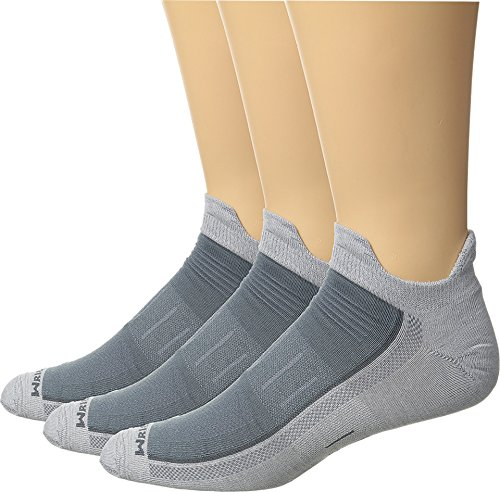 Wrightsock Unisex Endurance Double Tab 3-Pack Light Grey Large